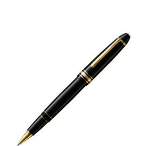 Stylo plume Meisterstück Solitaire motif feuille d'or, plume flexible